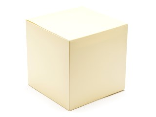 Cream 120mm sized Cube Carton - Cube Gift Carton Ideal for all occasions