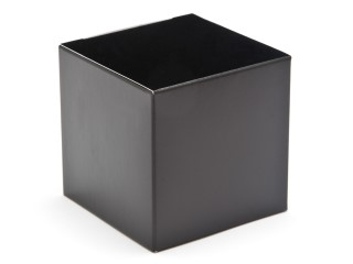 Black 60mm sized Cube Carton - Cube Gift Carton Ideal for all occasions