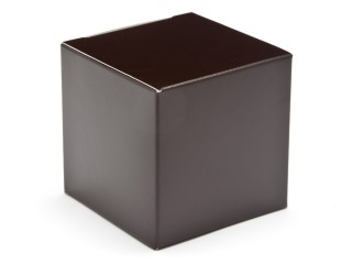 Chocolate Brown 60mm sized Cube Carton - Cube Gift Carton Ideal for all occasions