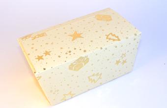 Cream and Gold 1000g sized Ballotin - Gift Carton Ideal for the festive season