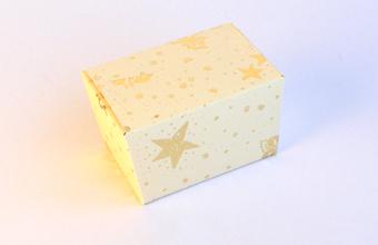 Cream and Gold 100g sized Ballotin - Gift Carton Ideal for the festive season