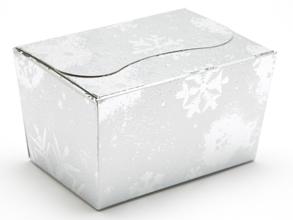 Silver Snowflake 125g sized Ballotin - Gift Carton Ideal for the festive season