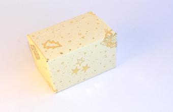 Cream and Gold 125g sized Ballotin - Gift Carton Ideal for the festive season