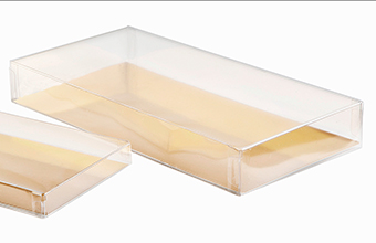 Clear 197x97x27mm sized Rectangular Base and Lid - Rectangular Box Ideal for all occasions