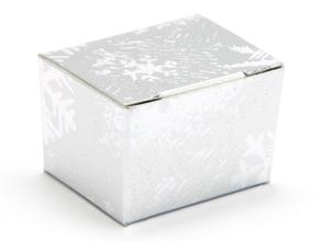 Silver Snowflake 1 Choc sized Ballotin - Gift Carton Ideal for the festive season