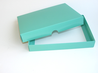 Aqua 24 Choc sized Lid - Fold-up Gift Box Lid Ideal for Spring-Summer occasions