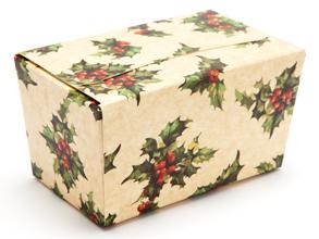 Kraft Holly 250g sized Ballotin - Gift Carton Ideal for the festive season