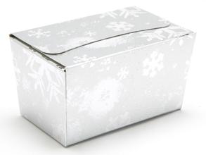 Silver Snowflake 250g sized Ballotin - Gift Carton Ideal for the festive season