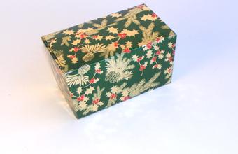 Traditional Holly 250g sized Ballotin - Gift Carton Ideal for the festive season