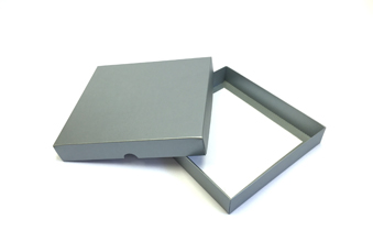 Silver 25 Choc Square sized Wibalin Lid - Fold-up Gift Box Lid Ideal for Extra Special occasions