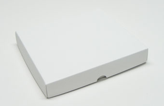 White 25 Choc Square sized Wibalin Lid - Fold-up Gift Box Lid Ideal for all occasions