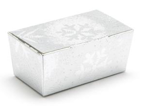 Silver Snowflake 2 Choc sized Ballotin - Gift Carton Ideal for the festive season