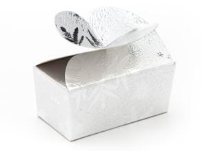 Silver Snowflake 2 Choc sized Butterfly Ballotin - Gift Carton Ideal for the festive season