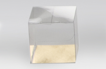 Clear 38mm sized Transparent Cube Carton - Cube Gift Carton Ideal for all occasions