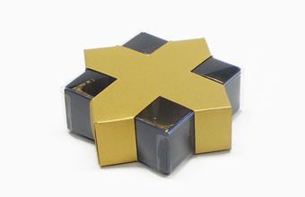 Gold 4 Choc sized Star Wrap - Wrap (for 4 Choc Box) Ideal for all occasions or Christmas