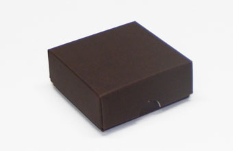 Brown 4 Choc sized Wibalin Lid - Fold-up Gift Box Lid Ideal for all occasions