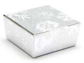 Silver Snowflake 4 Choc sized Ballotin - Gift Carton Ideal for the festive season