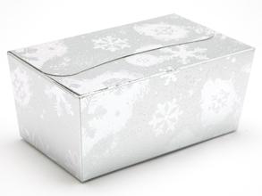 Silver Snowflake 500g sized Ballotin - Gift Carton Ideal for the festive season