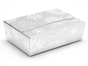 Silver Snowflake 6 Choc sized Ballotin - Gift Carton Ideal for the festive season