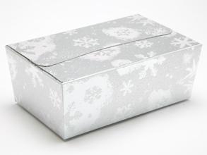 Silver Snowflake 750g sized Ballotin - Gift Carton Ideal for the festive season