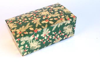 Traditional Holly 750g sized Ballotin - Gift Carton Ideal for the festive season