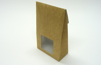 Brown (kraft) Large sized A-Frame Carton with Square Window - Gift Carton Ideal for all occasions