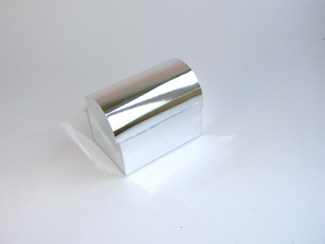 Silver Medium sized Chest Carton - Roll-Top Gift Carton Ideal for all occasions