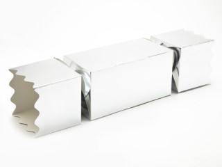 Silver Giant sized Twist End Cracker - Twist-Lock Gift Packaging Cracker Carton Gift Carton Ideal for the festive season
