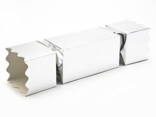 Silver Large sized Twist End Cracker - Twist-Lock Gift Packaging Cracker Carton Gift Carton Ideal for the festive season