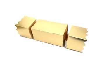 Gold Large sized Twist End Cracker - Twist-Lock Gift Packaging Cracker Carton Gift Carton Ideal for the festive season