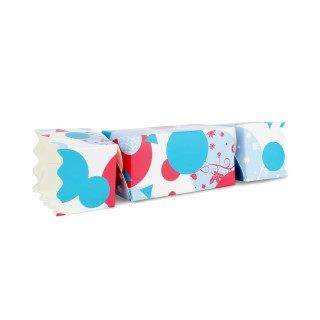 Spots and Baubles Large sized Twist End Cracker - Twist-Lock Gift Packaging Cracker Carton Gift Carton Ideal for the festive season