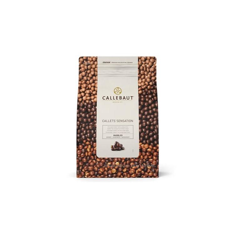 Callebaut Marbled Dark & White Chocolate Pearls 2.5kg