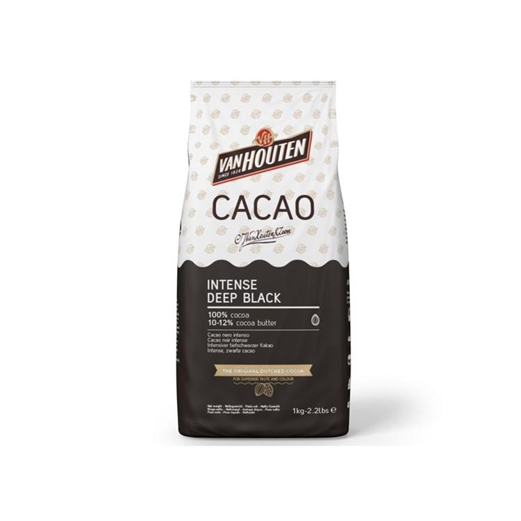 Cocoa powder from Van houten. Intense deep black natural 1kg