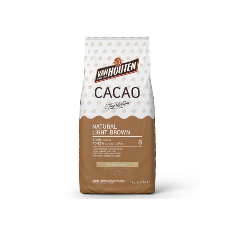 Cocoa Powder from Van houten. Light brown natural 1kg