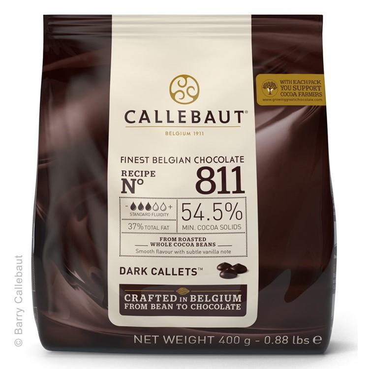 Callebaut Dark Chocolate Chips Couverture 811 - 400g