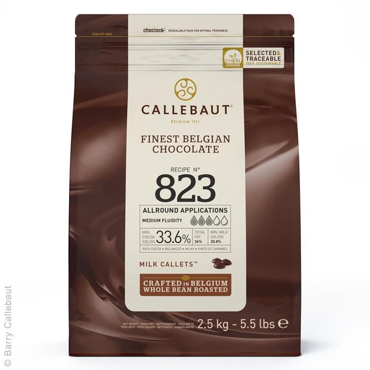 Callebaut 823 Milk Chocolate Chips Couverture 2.5kg