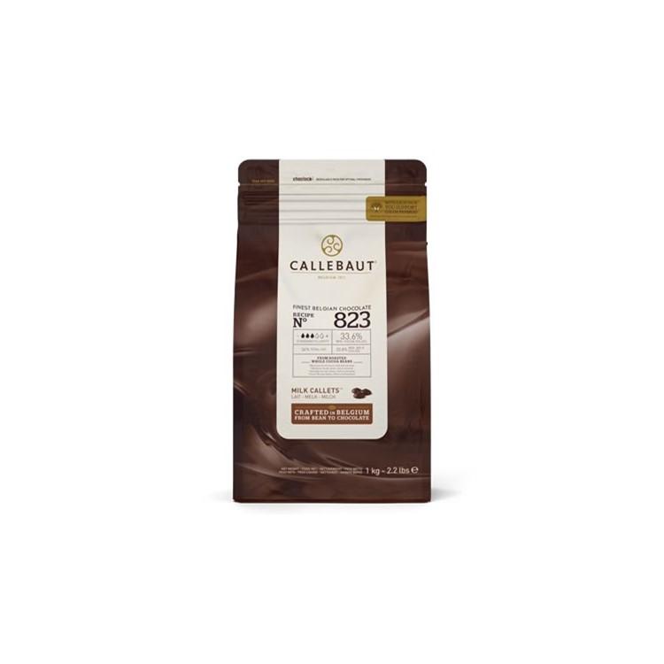 Callebaut 823 Milk Chocolate Chips Couverture - 1kg