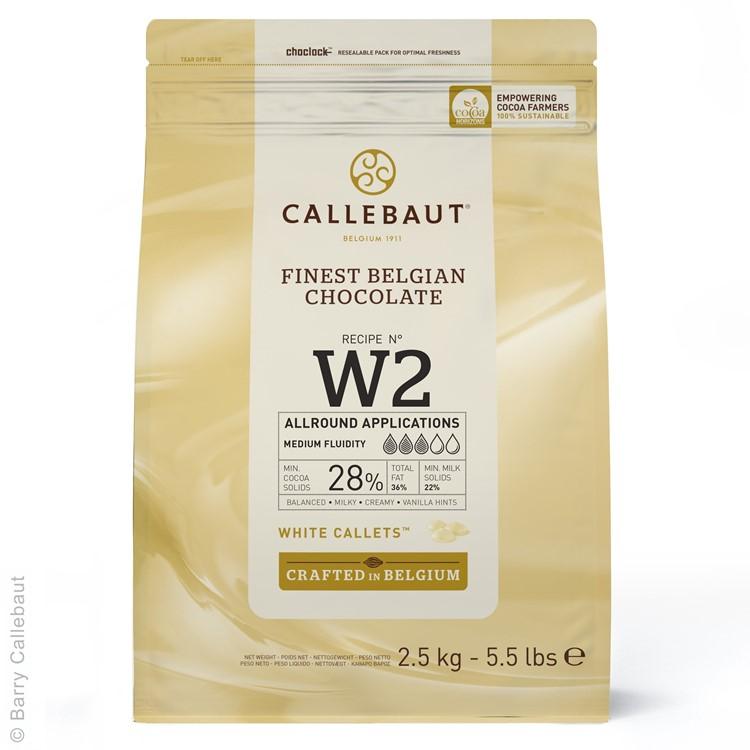Callebaut White Chocolate Chips W2 - 2.5kg