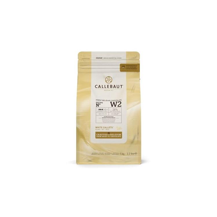 Callebaut White Chocolate Chips W2 - 1kg