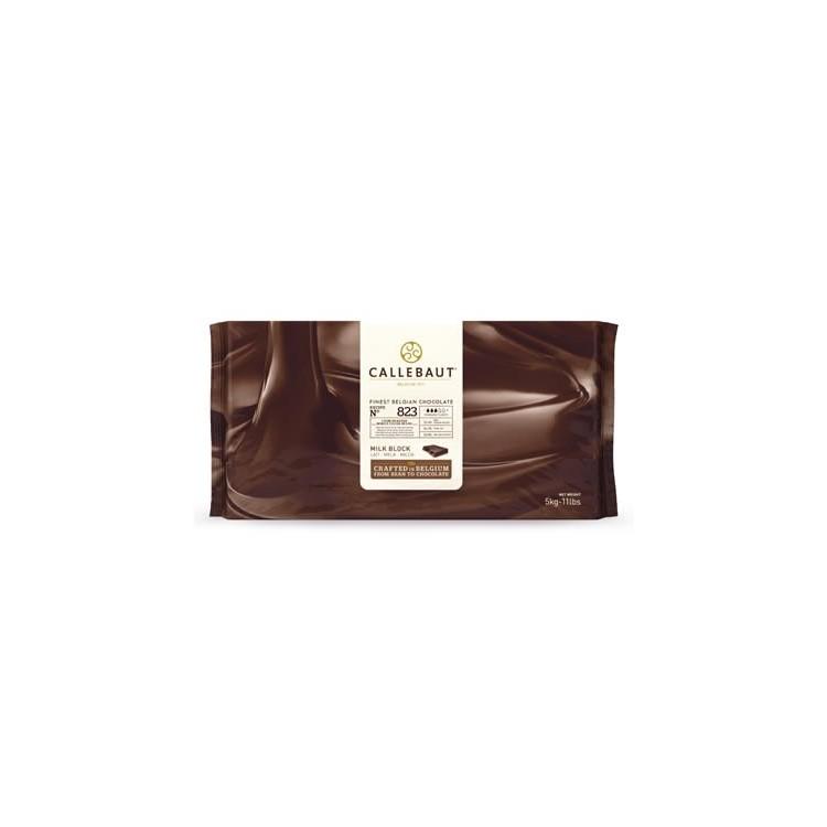 Callebaut Milk Chocolate Chips Couverture 823 - 5kg  bar