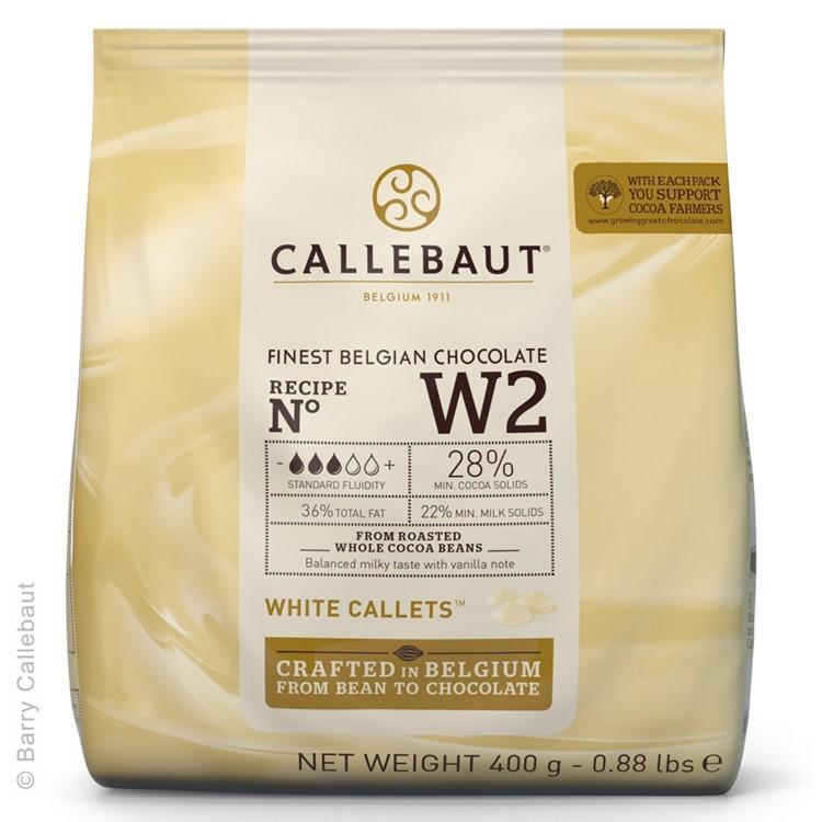 Callebaut White Chocolate Chips W2 - 400g