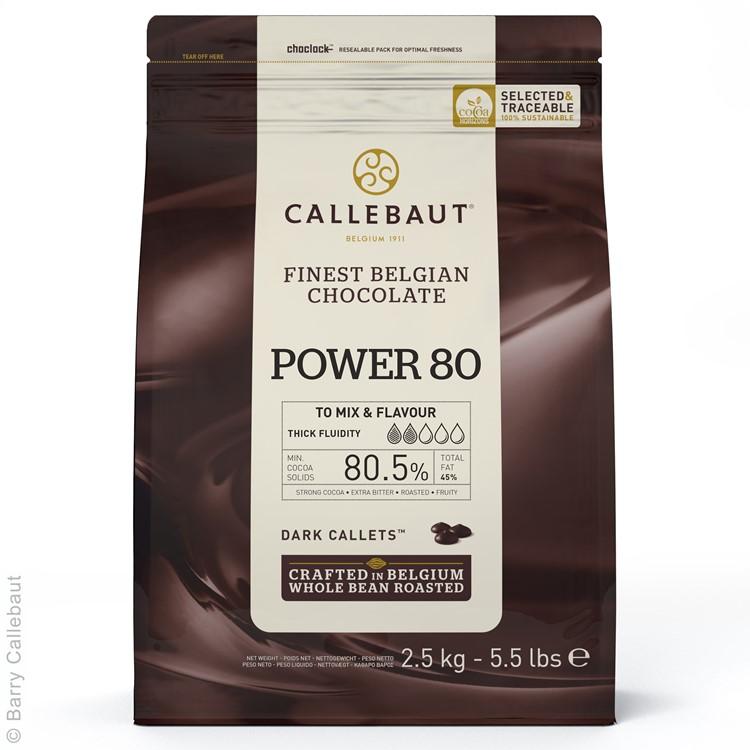 Callebaut Dark Chocolate Chips Power 80% 2.5kg bag