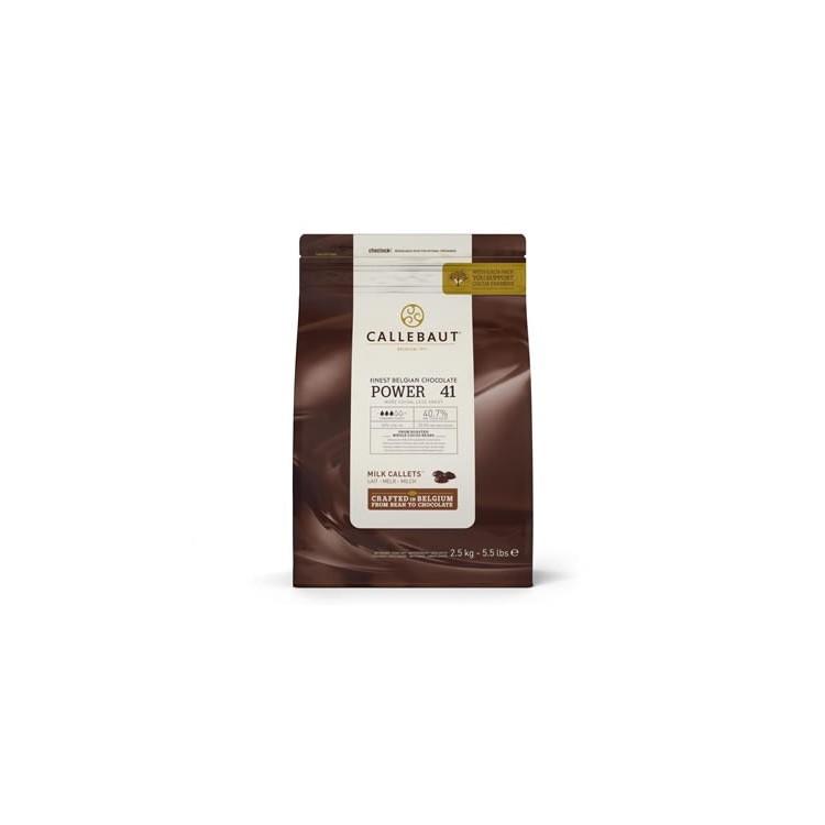 Callebaut Milk Chocolate Chips Power - 41 2.5kg bag