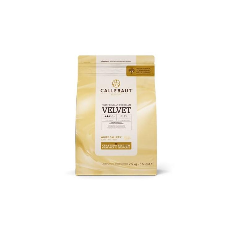 Callebaut White Chocolate Chips Velvet - 2.5kg