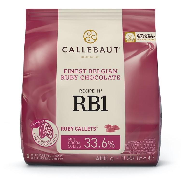 Ruby Chocolate from Callebaut - 400g