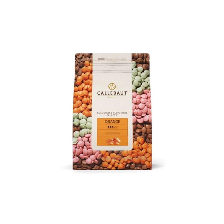 Callebaut Orange flavour Chocolate chips - Orange Candy Melts - 2.5kg