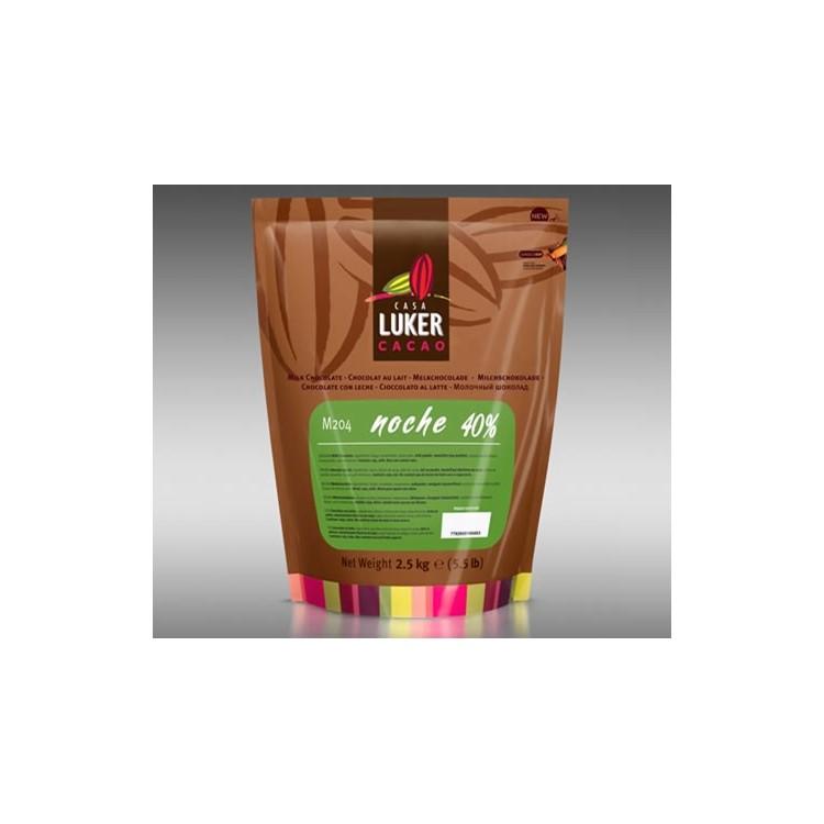 CasaLuker Cacao Noche Milk Chocolate Buttons / Callets 40%   2.5kg