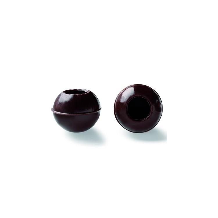 Wholesale dark chocolate truffle shells | box of 504 | Callebaut