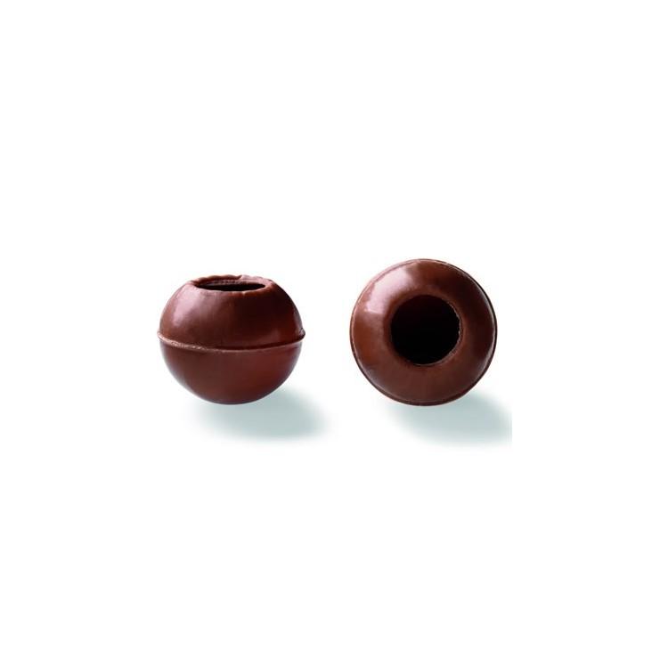 Wholesale milk chocolate truffle shells | box of 126 | Callebaut