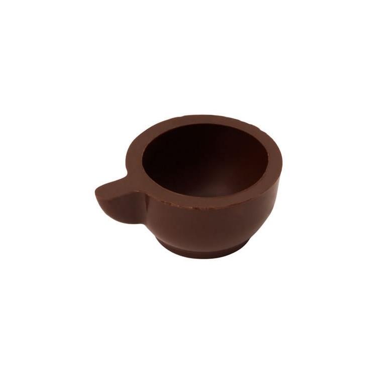 Dark chocolate hollow cups   box of 540   chocolate truffle shells